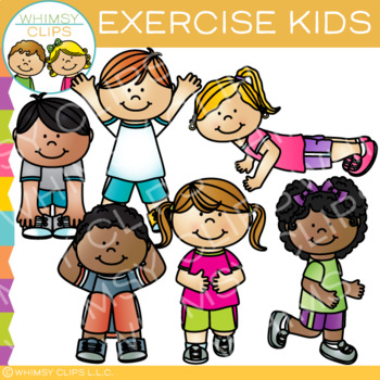 Clipart children exercise. Kids clip art products