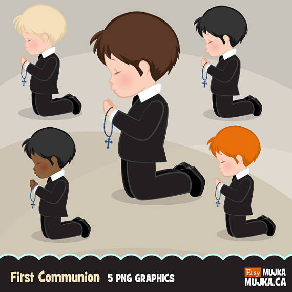 For characters graphics . Boys clipart first communion