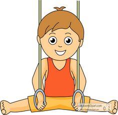 Clip art download girl. Boys clipart gymnastics
