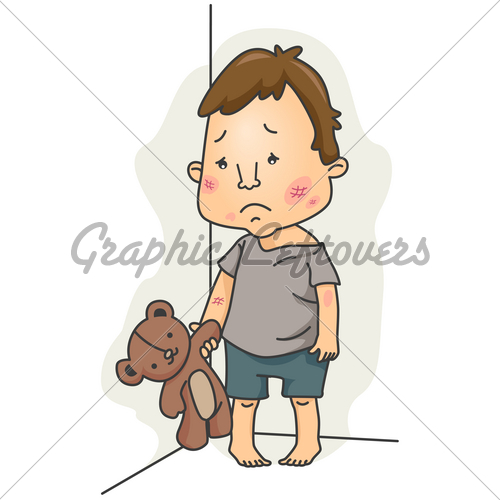Boys clipart malnourished. Child abuse gl stock