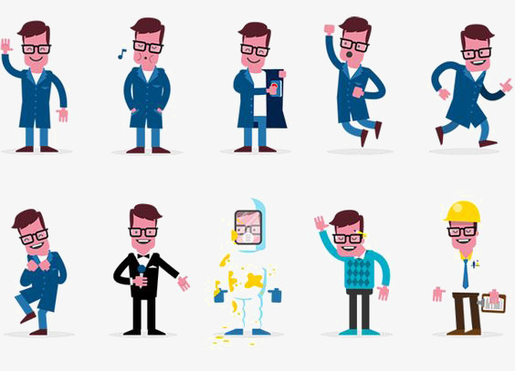 Boys clipart man. Workplace men cartoon the