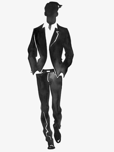 Handsome the god suit. Boys clipart man