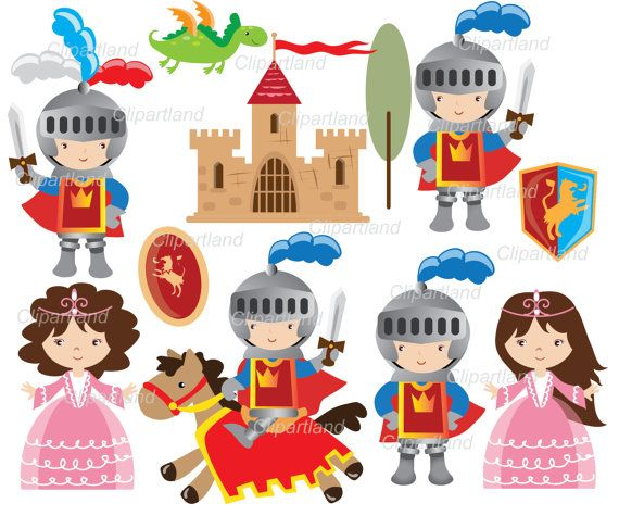 best knights images. Boys clipart medieval