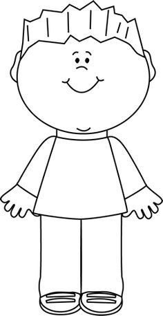 collection of boy. Boys clipart outline