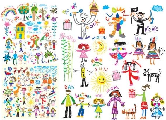 Boys clipart painting. Cheerful children clip art