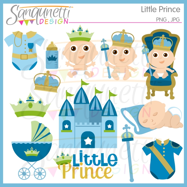Boys clipart prince. Sanqunetti design little baby