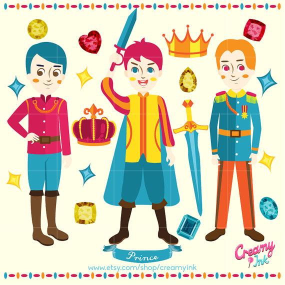 Digital vector clip art. Boys clipart prince