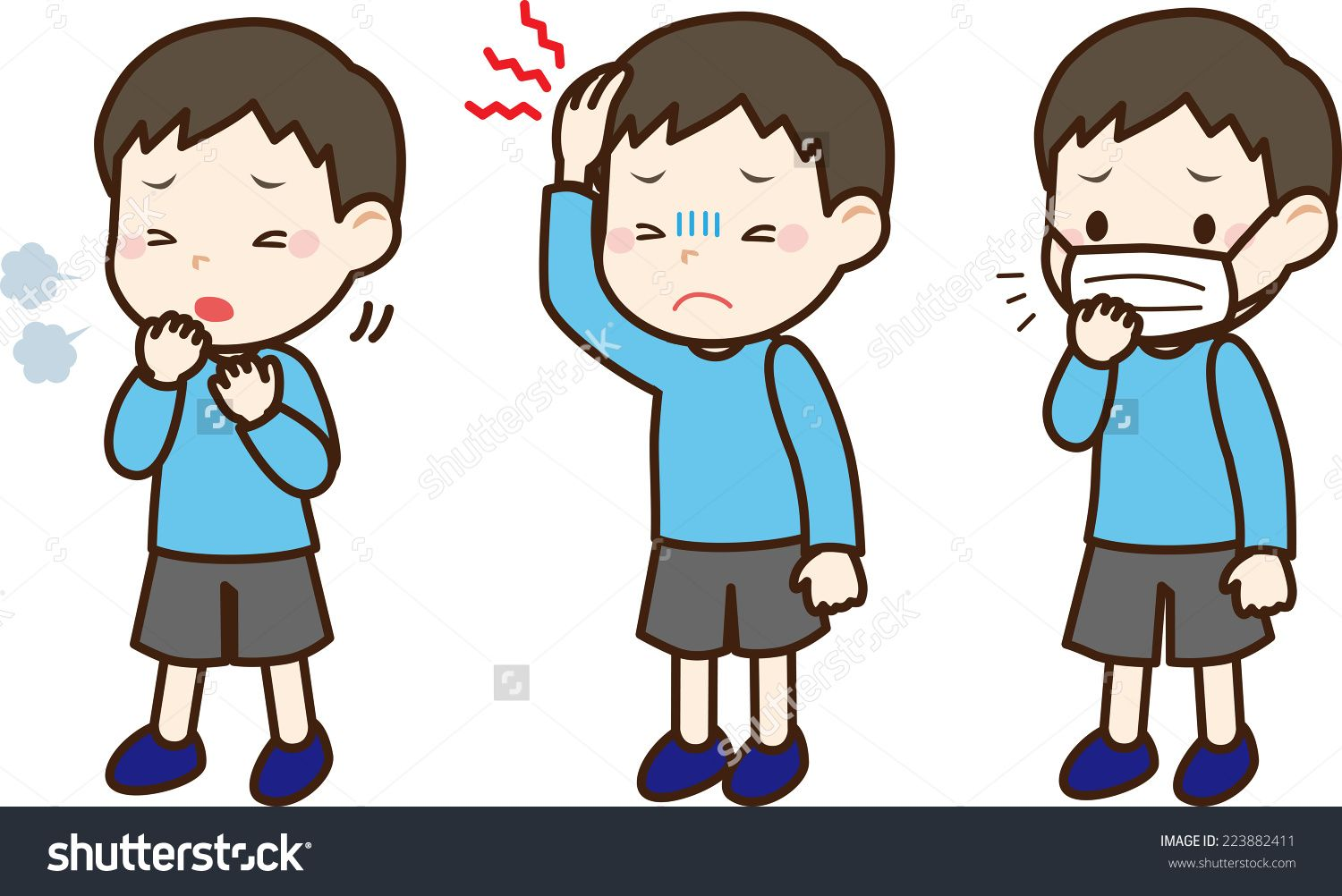 Kids google search cuerpo. Boys clipart sick