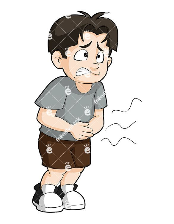 Boys clipart sick. Boy with diarrhea cartoon
