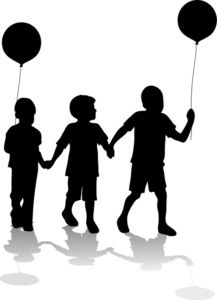 Brother clipart silhouette. Free brothers clip art