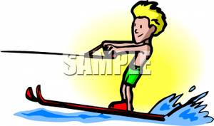 Boys clipart skiing. A boy water picture