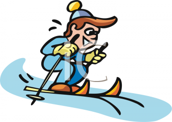 Boys clipart skiing. Picture of a small