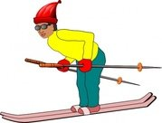 Free ski resort and. Boys clipart skiing