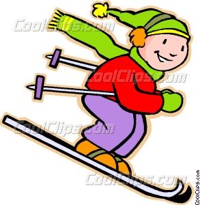 Boys clipart skiing. Little boy vector clip