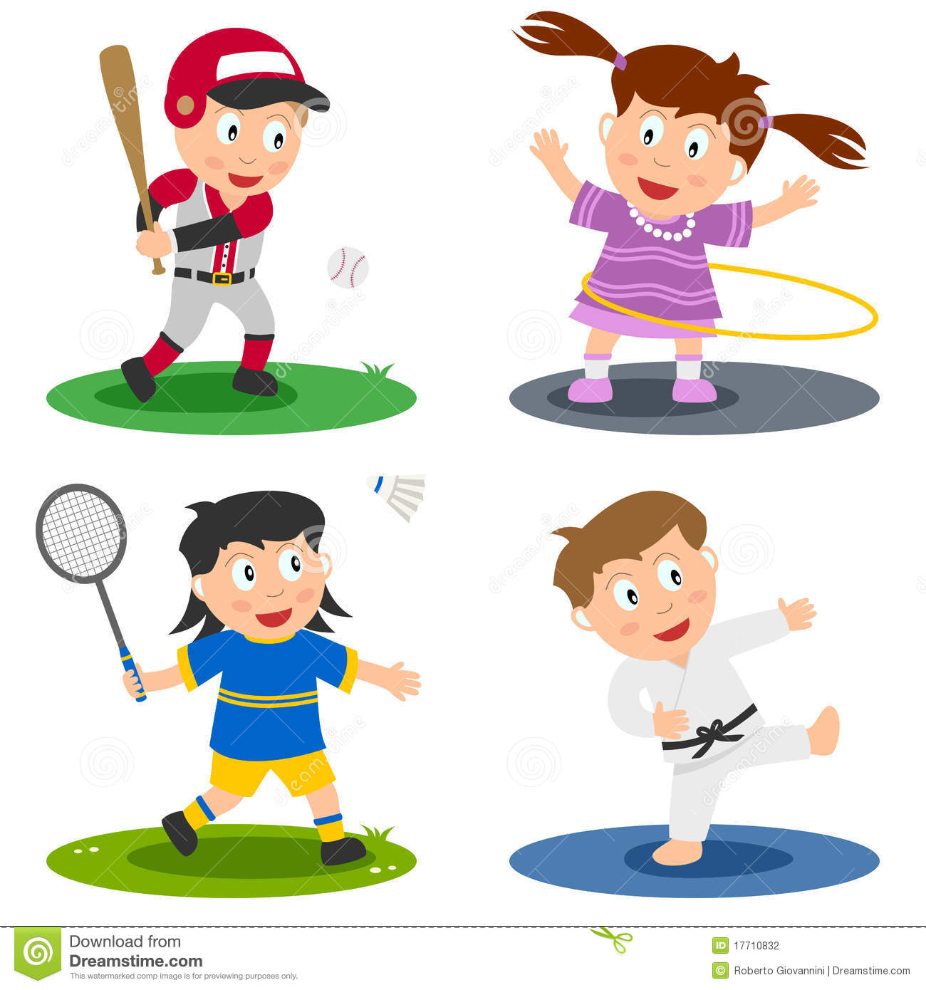 Athletic clipart youth sport. Kids sports pictures group