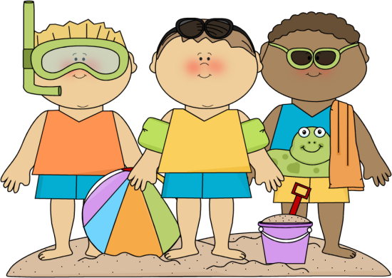 Boys clipart summer. On beach clip art