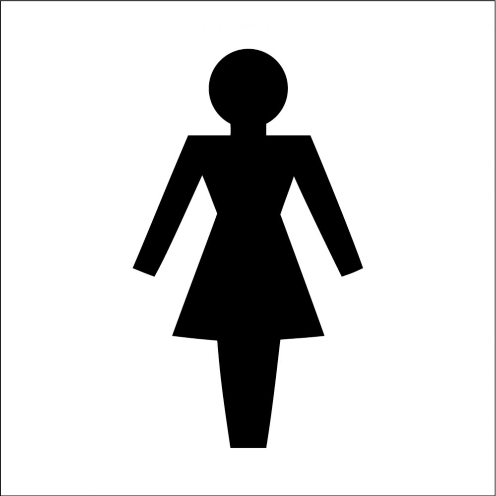 Boys clipart symbol. Female toilet signs from