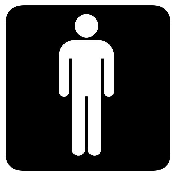 Boys clipart symbol. Bathroom