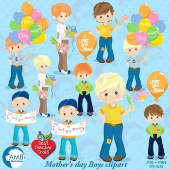 Boys clipart teacher. Mothers day kids clip