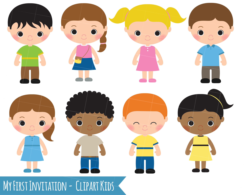 Kids children girl boy. Boys clipart toddler