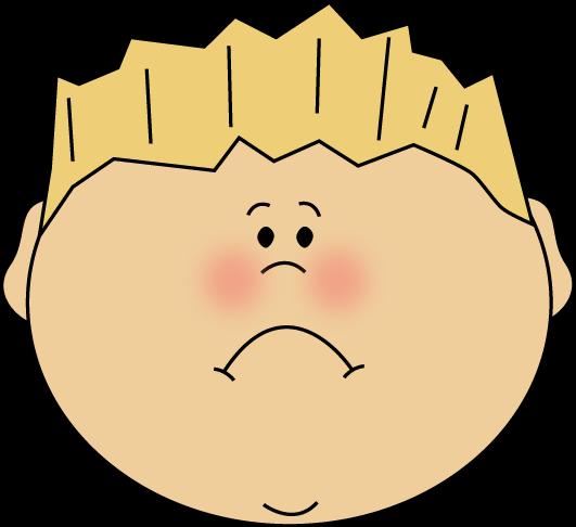 Sad face art group. Boys clipart upset