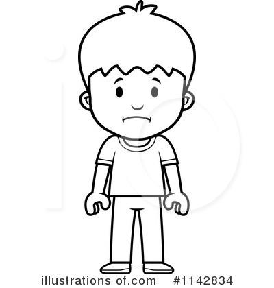 School boy illustration by. Boys clipart upset