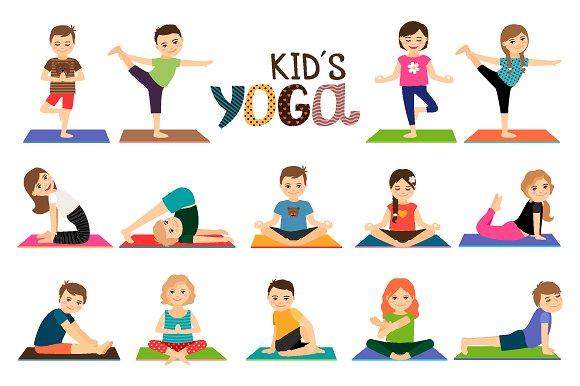 Boys clipart yoga. Cartoon mom and baby