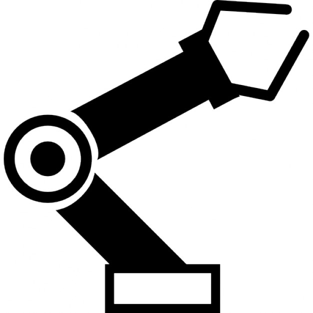 Robot clipart robot arm. Robotic ios interface symbol