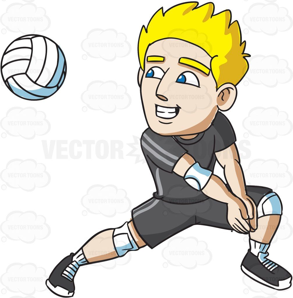 A male volleyball player. Bra clipart forearm