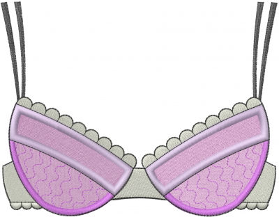 Embroidery designs machine at. Bra clipart lace bra