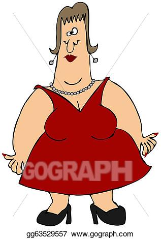 Witch clipart obese. Stock illustration woman with