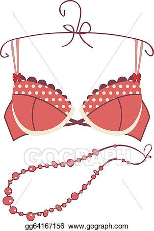 Bra clipart red bra. Vector stock sexy vintage