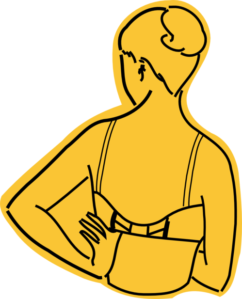 How to wear a. Bra clipart right arm
