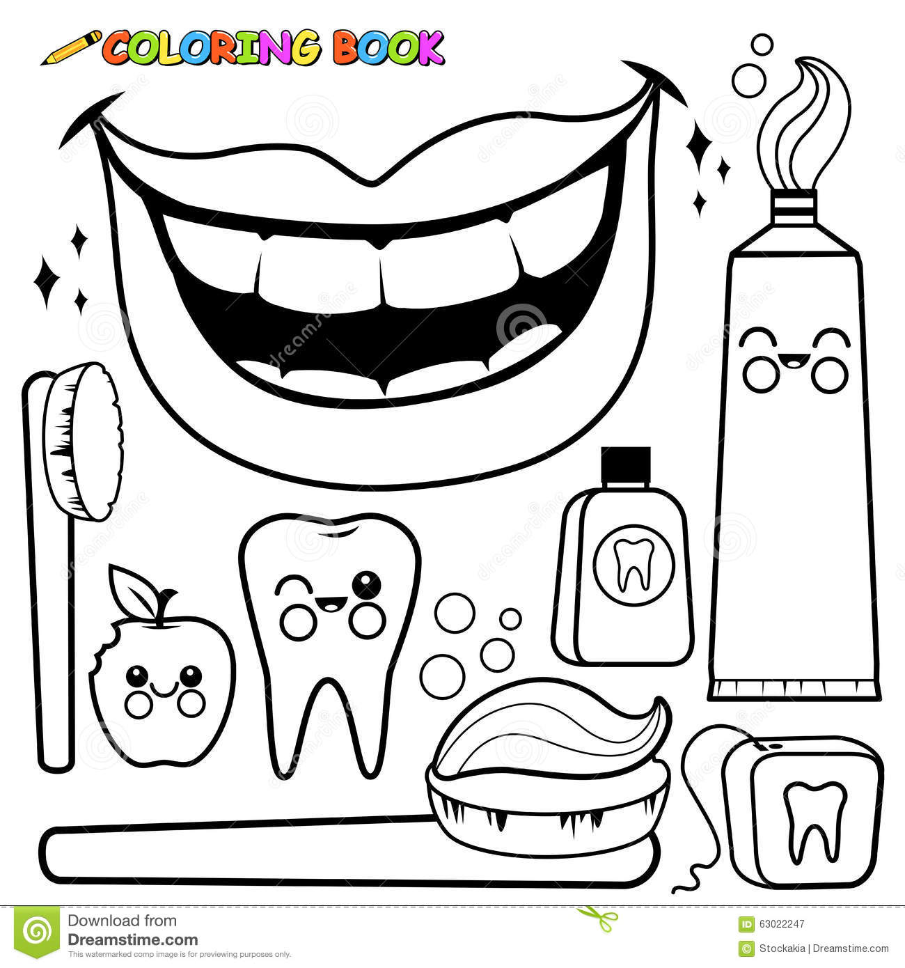Braces clipart black and white. Opportunities coloring pages dentist