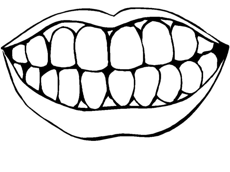 Teeth letters clip art. Braces clipart black and white