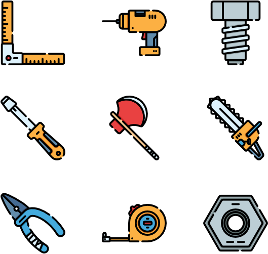 Tools and elements full. Braces clipart carpenter tool