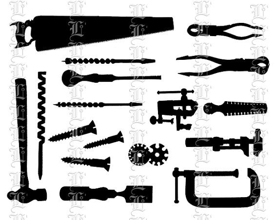 Clip art workshop tools. Carpentry clipart hardware tool