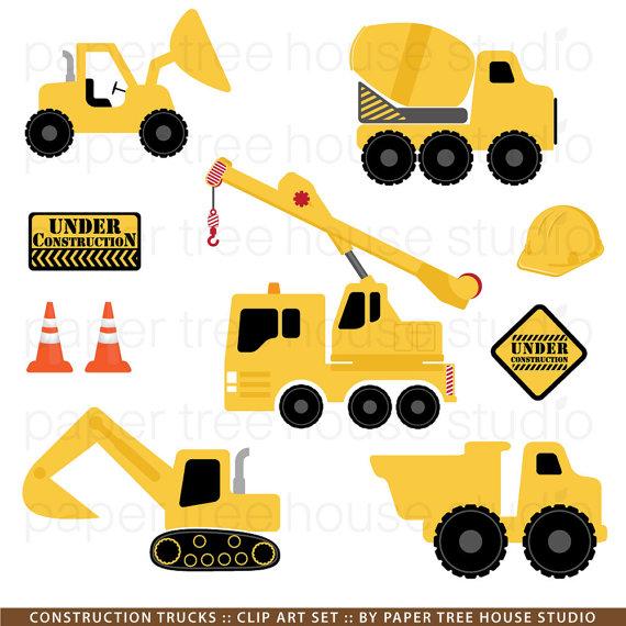 Excavator clipart. Construction trucks clip art