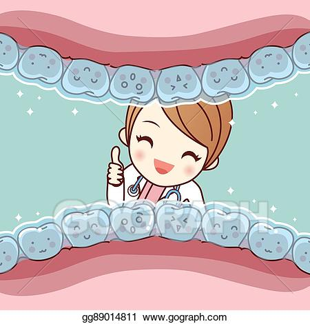Vector cartoon tooth invisible. Braces clipart cute