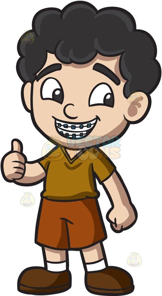 A boy approves his. Braces clipart cute