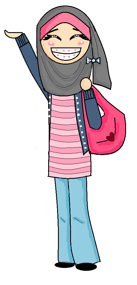 Braces clipart happy girl. With by littlemuslimah on