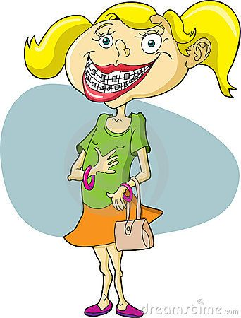 This is what a. Braces clipart horrible