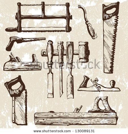 best tools images. Carpentry clipart vintage