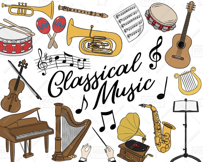 Music clipart classical music. Download for free png