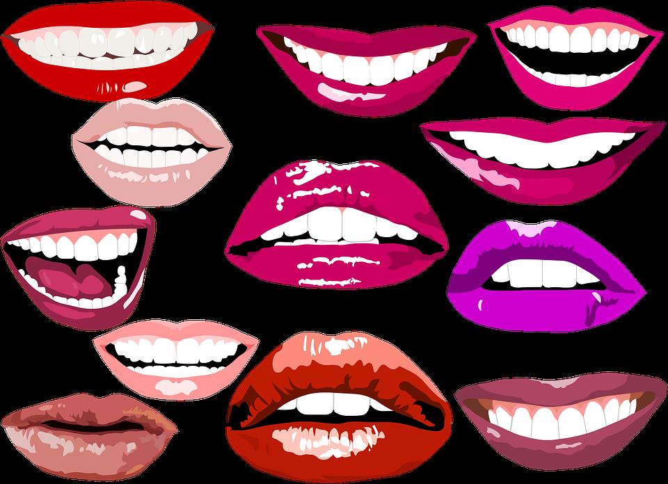 A beautiful smile and. Lip clipart lip balm