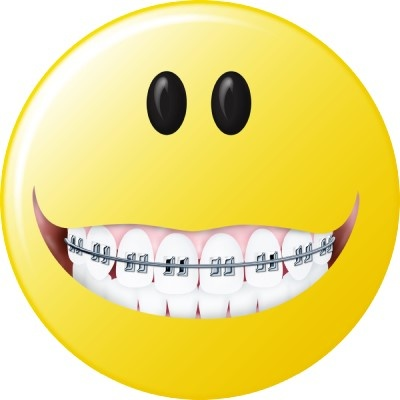 Braces clipart smile. Smiley face with