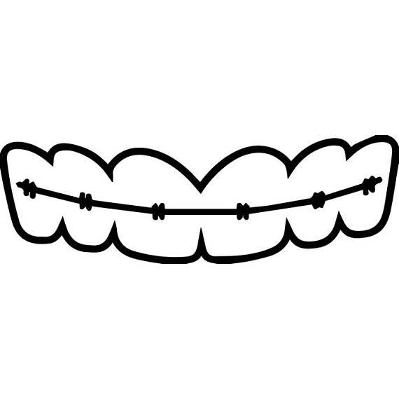 Dentist teeth dentistry dental. Braces clipart svg
