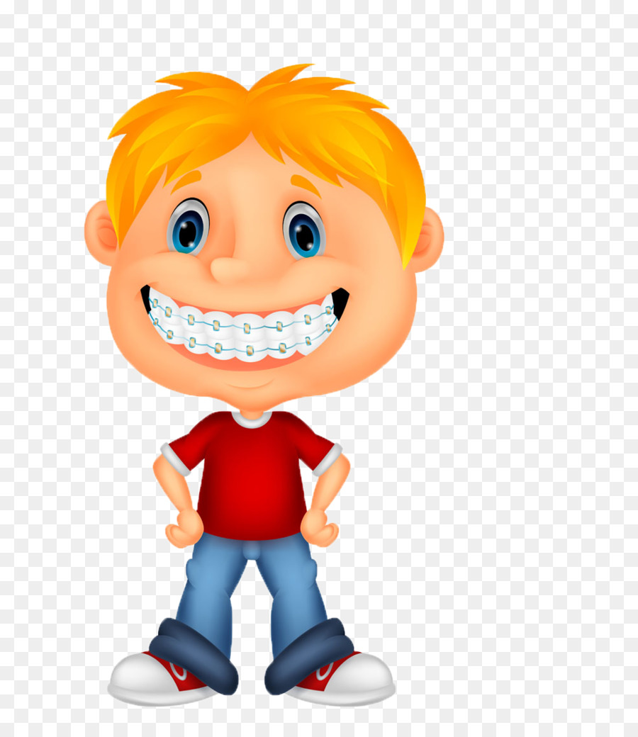 Dental child drawing illustration. Braces clipart tooth cartoon