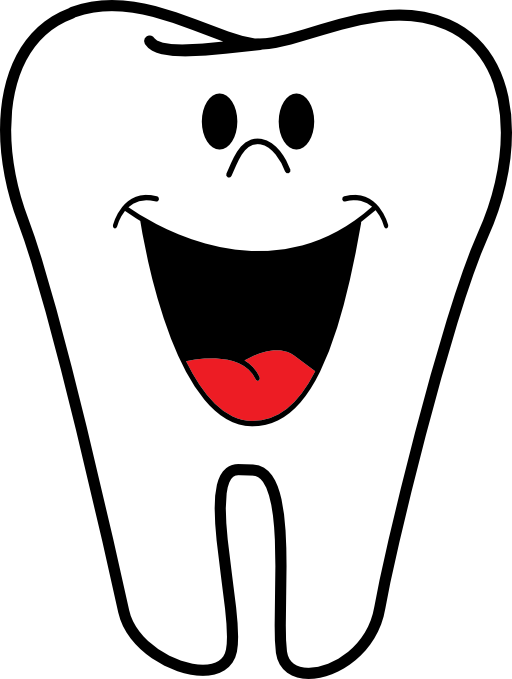 Magnet happy tooth name. Dentist clipart dental caries