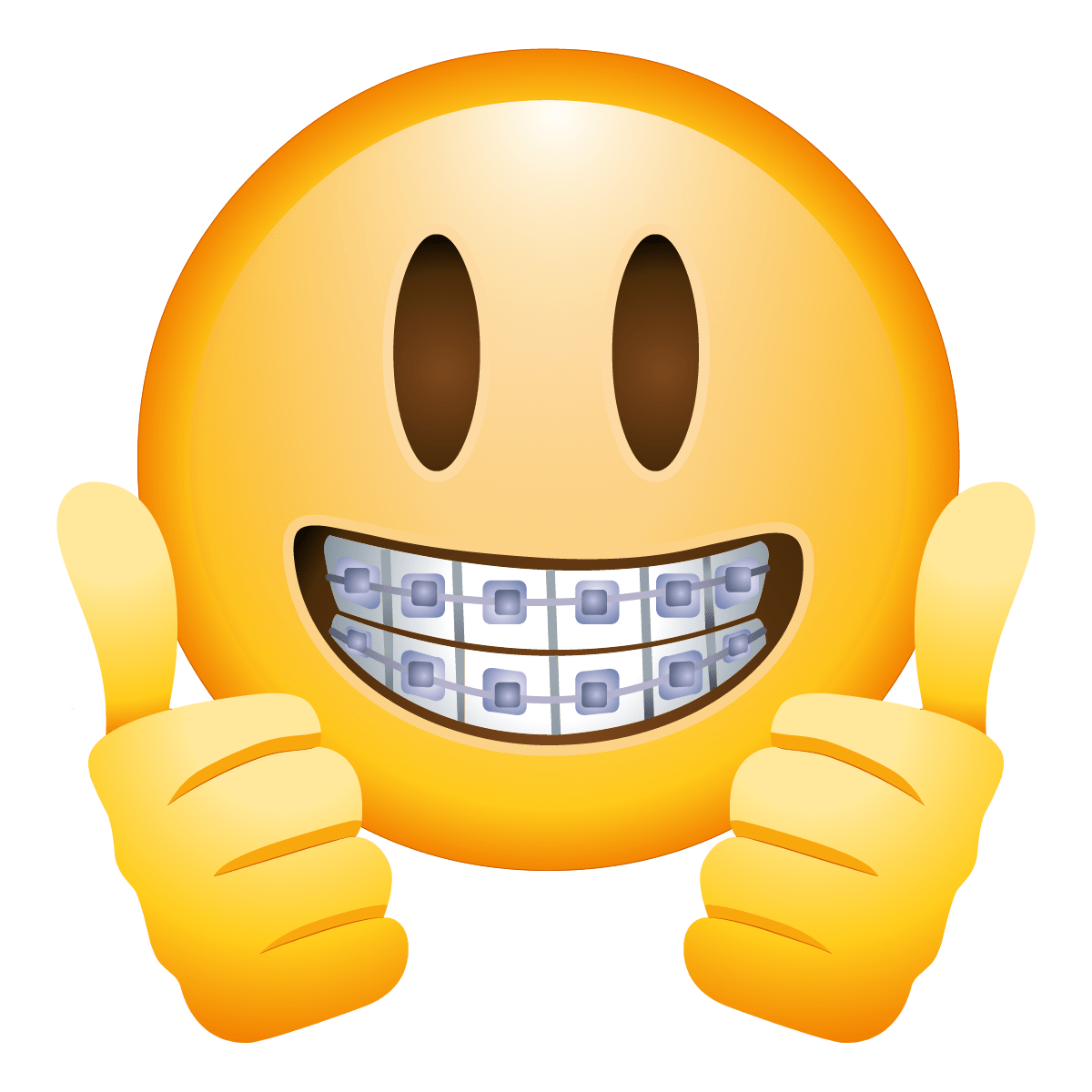 Braces face emoji transparent. Wow clipart emoticon
